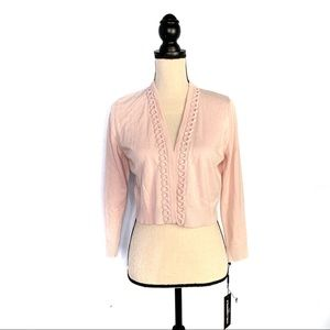 Karl Lagerfeld Pink Knit Open Front Cardigan NWT